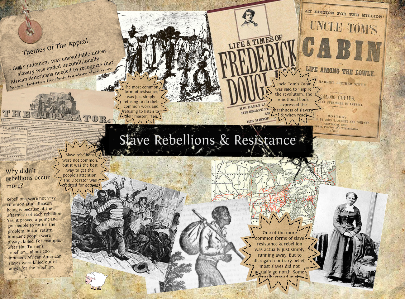 history slave resistance The most dramatic way of resisting slavery was to engage in a slave rebellion  these were very uncommon but had a huge impact when they happened slave .